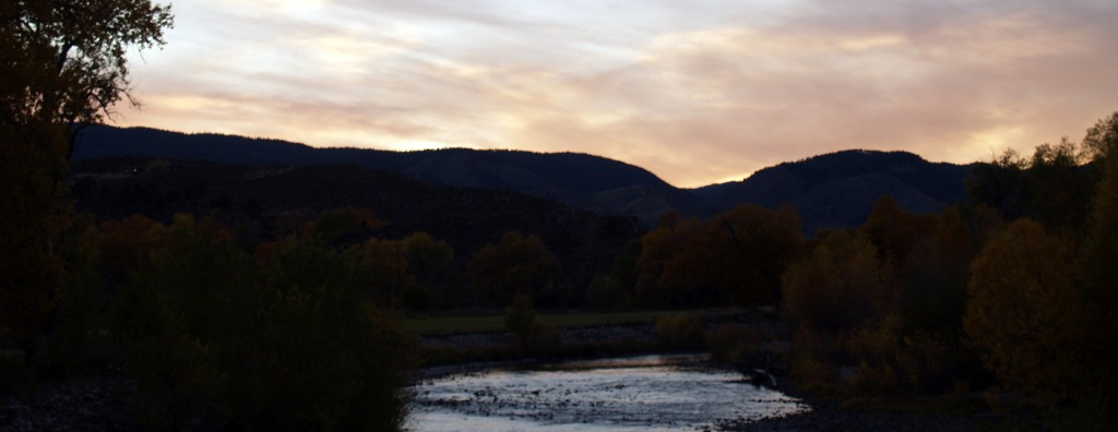 Poudre River and mountains
