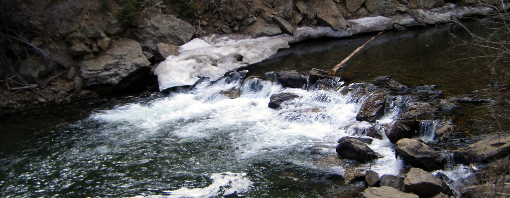 a miniature waterfall