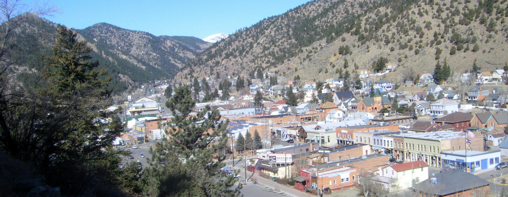 another view of historic idaho springs, this time from 10 feet lower