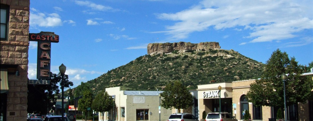 The Castle Cafe and Castle Rock.