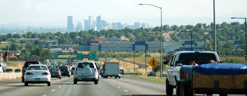 Saturday Afternoon - Heading South Into Denver on I-25