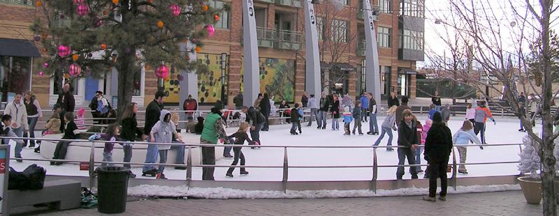 Christmas ice rink at Belmar