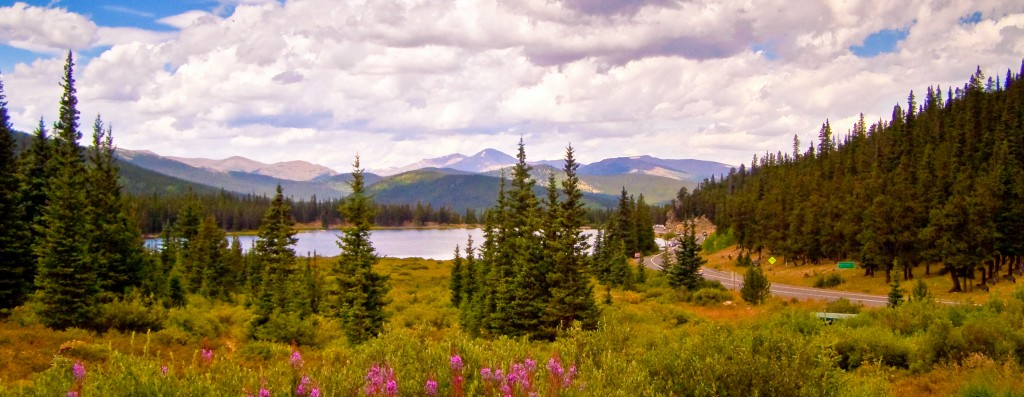 Echo Lake along the Mount Evans Scenic Byway, Colorado-1