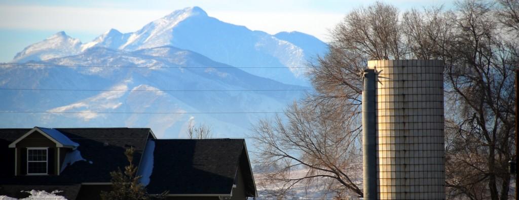 Long's Peak as seen from Berthoud